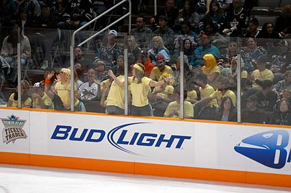 San Jose Sharks Devin Setoguchi cheering section