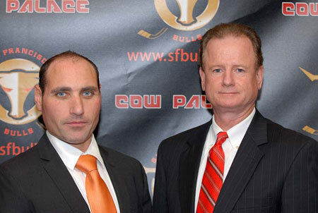 San Francisco Bulls introductory ECHL press conference President Pat Curcio ECHL Commissioner Brian McKenna