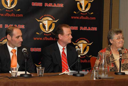 San Francisco Bulls ice hockey press conference