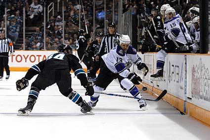 San Jose Sharks Los Angeles Kings Stanley Cup Playoffs Marc-Edouard Vlasic Kyle Clifford