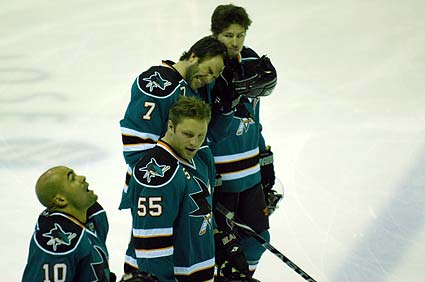 San Jose Sharks Jamal Mayers national anthem