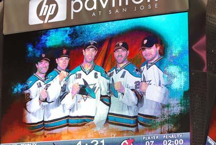 San Jose Sharks support San Francisco Giants MLB World Series