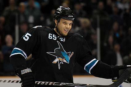 San Jose Sharks defenseman Derek Joslin scored first NHL goal