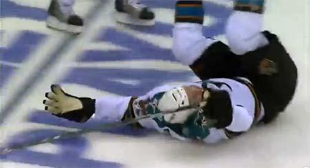 San Jose Sharks Joe Thornton celebrated overtime game winning goal against Los Angeles