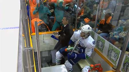 San Jose Sharks Vancouver Canucks Teal Man Game 2 reprise