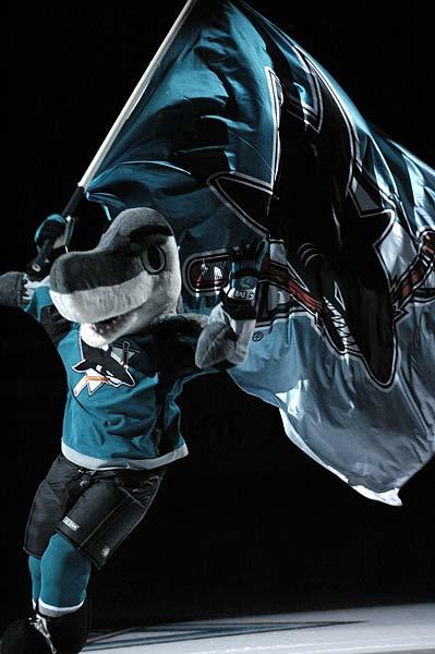 S.J. Sharkie mascot